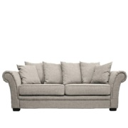 Xalbion 3 Seater Rolled arms Sofa in Grey Colour