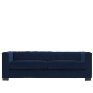 Mozo 3 Seater Tufted Back Sofa in Blue Colour