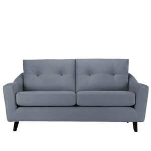 Durtis 3 Seater Button Tufted Sofa in Light Grey Colour