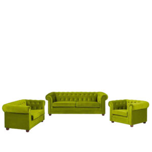 Baudriana 3+2+1 Sofa Set Sofa in Green Colour