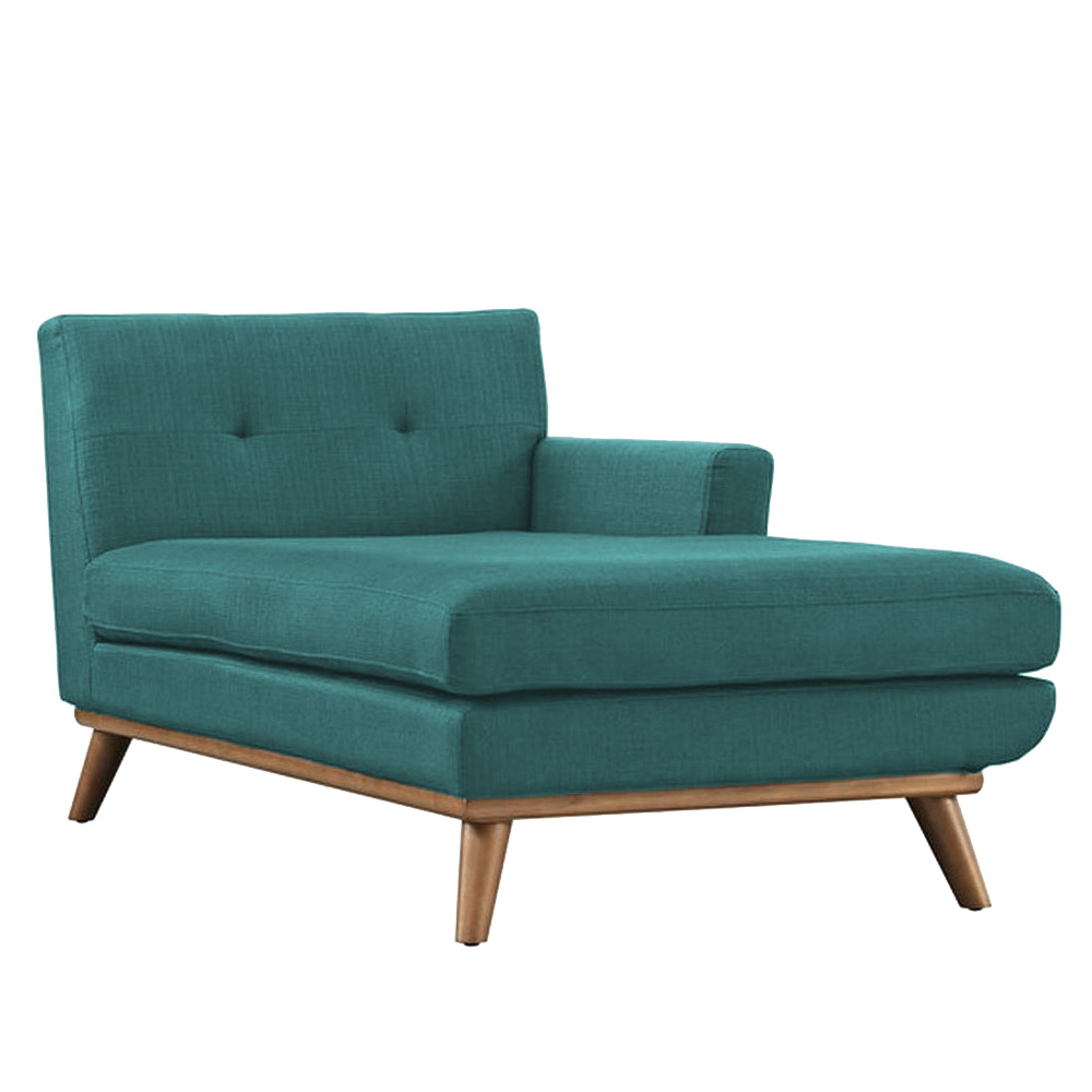 Baubrey button tufted chaise lounge sofa for Button tufted velvet chaise settee green