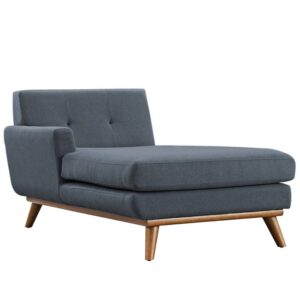 Saustine Chaise Lounge Tufted back Sofa in Grey Colour