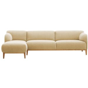Fadriane L Shape Sofa in Beige Colour