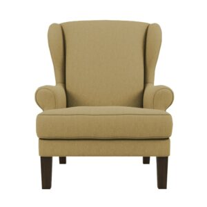 Valgoma Wingback Chair in Beige Colour