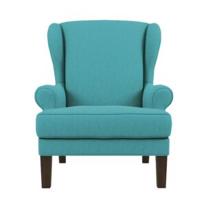 Valgoma Wingback Chair in Aqua Blue Colour