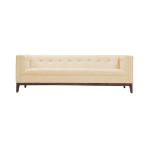 Farver 3 Seater Tufted Back Sofa in Light Beige Colour