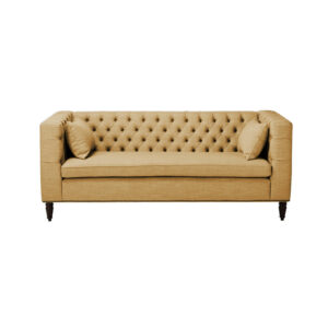 Camery 3 Seater Chesterfield Sofa in Beige Colour