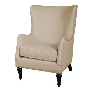 Jaaz Wingback Chair in Beige Colour