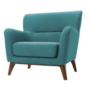 Jimrar Wing Chair in Aqua Blue Colour