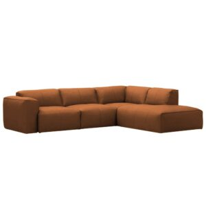 Larina L Shape Sofa in Camel  Colour
