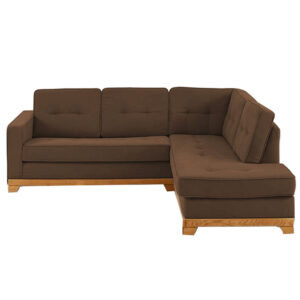 Xian L Shape Sofa in Light Brown Colour
