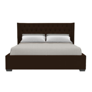 Xanjira king Size Chesterfield Bed in Dark Brown Colour