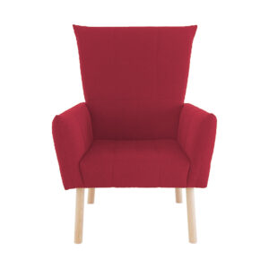 Palanis Accent Chair in Red Colour