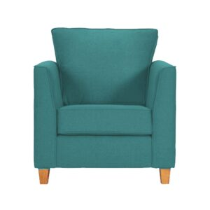 Balene Accent Chair in Aqua Blue Colour