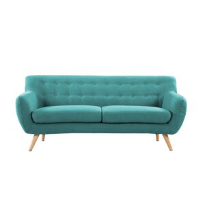 Xlive 3 Seater Button Tufted Sofa in Blue Colour