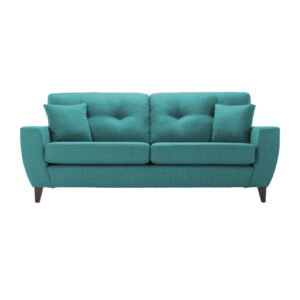 Moleman 3 Seater Button Tufted Sofa in Blue Colour