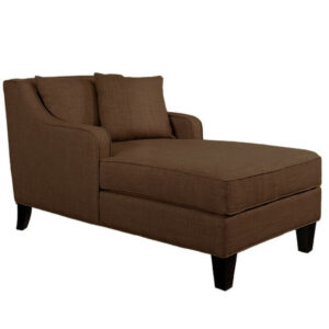 Calastair Chaise Lounge Curved Arms Sofa in Light Brown Colour