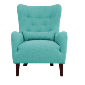 kajar Wingback Chair Button Tuftedin Light Blue Colour