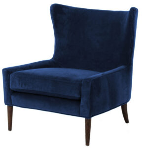 Suita Wing Chair in Blue Colour