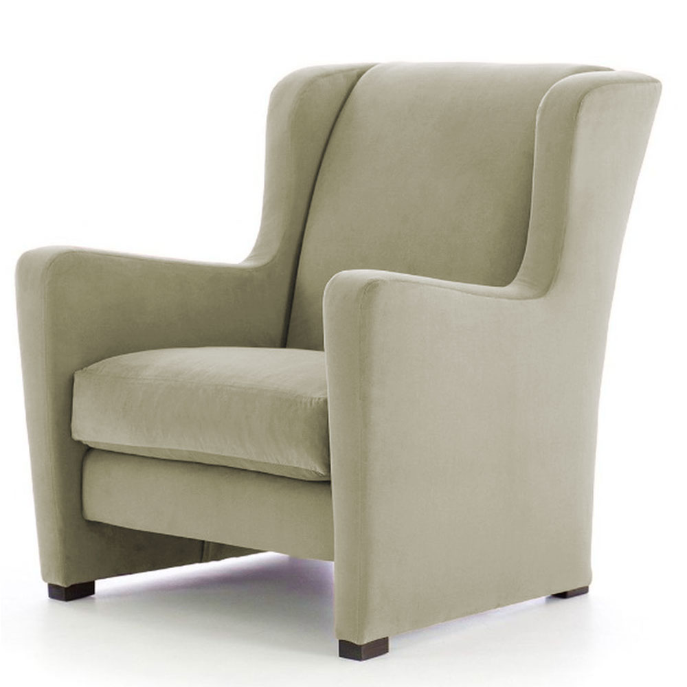 Janesa Wing Chair in Light Beige Colour