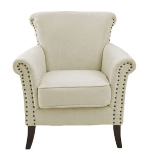 Marcola Wing Chair in Beige Colour