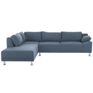 Stancy L Shape Button tufted Sofa in Grey Colour