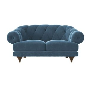 Zalexandre 2 Seater Chesterfied Sofa in Blue Colour