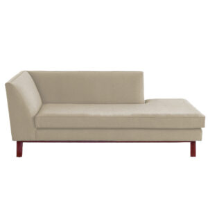 Cetra Chesterfield Lounger Sofa in Beige Colour