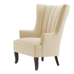 Missanley Tufted Wingback Chair in Light Beige Colour