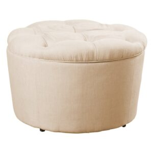 Huntingdon Chesterfield ottoman in Light Beige Colour