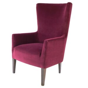 Hamlin Wingback chair in maroon Colour